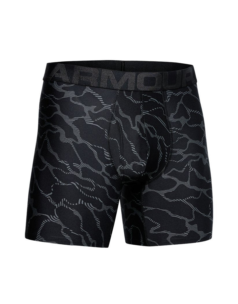 Black/ American Blue Front Under Armour Tech 6'' Boxerjock Printed 2-Pack 1327416
