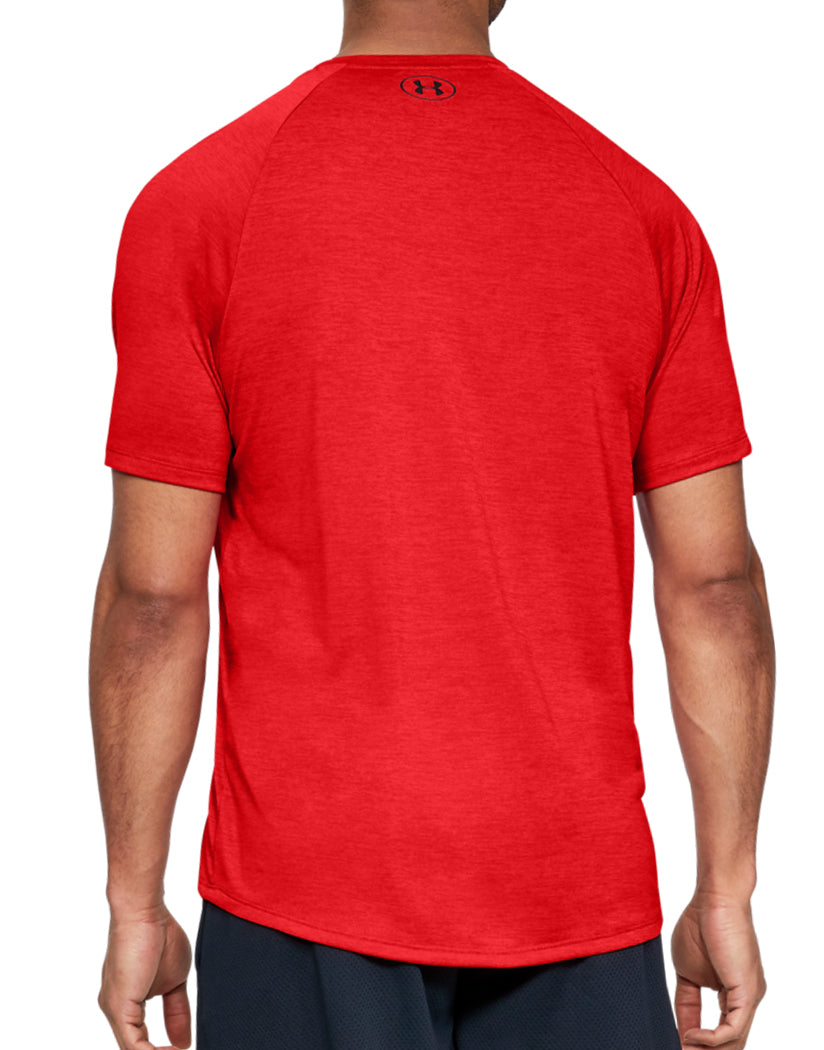 Red/Black Back Under Armour Tech 2.0 V-Neck T-Shirt 1328190