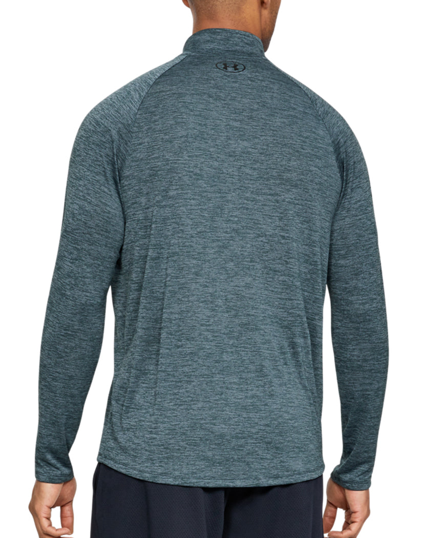 Wire/Black Back Under Armour Tech 2.0 1/2 Zip 1328495