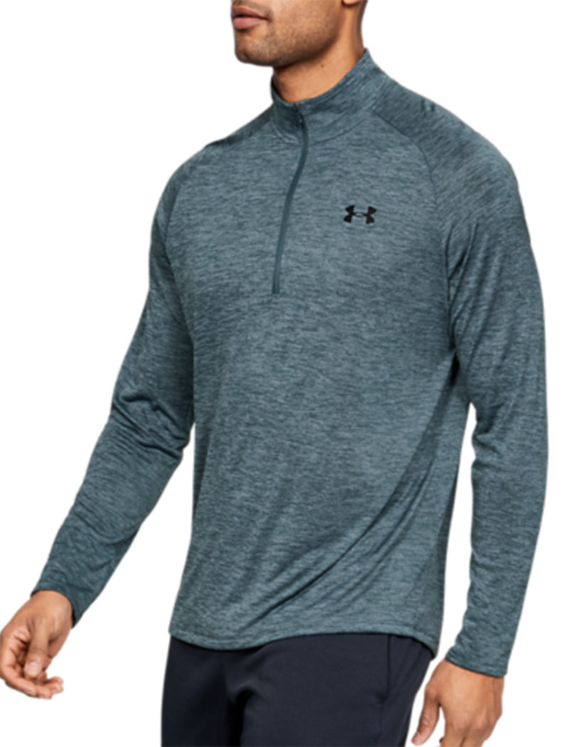 Wire/Black Front Under Armour Tech 2.0 1/2 Zip 1328495