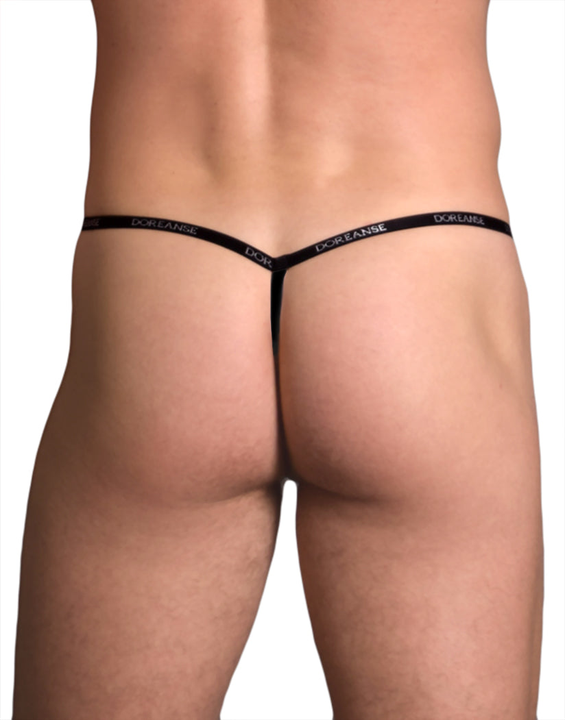 2f90c7f8ff1b77 Black Back Ribbed Modal T Thong