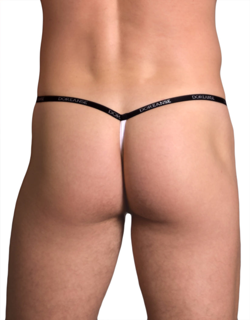 White Back Doreanse Ribbed Modal T Thong 1330
