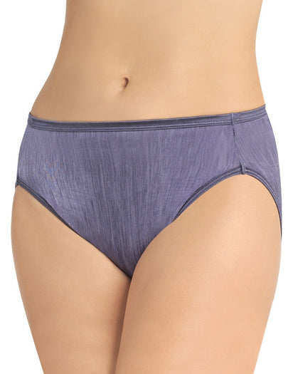 Steel Violet Front Vanity Fair Illumination Hi-Cut Panty