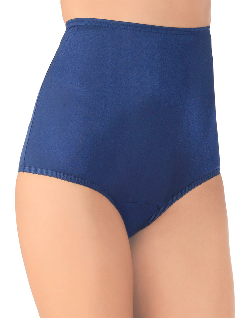 Navy Front Vanity Fair Perfectly Yours Ravissant Premium Tailored Nylon Brief