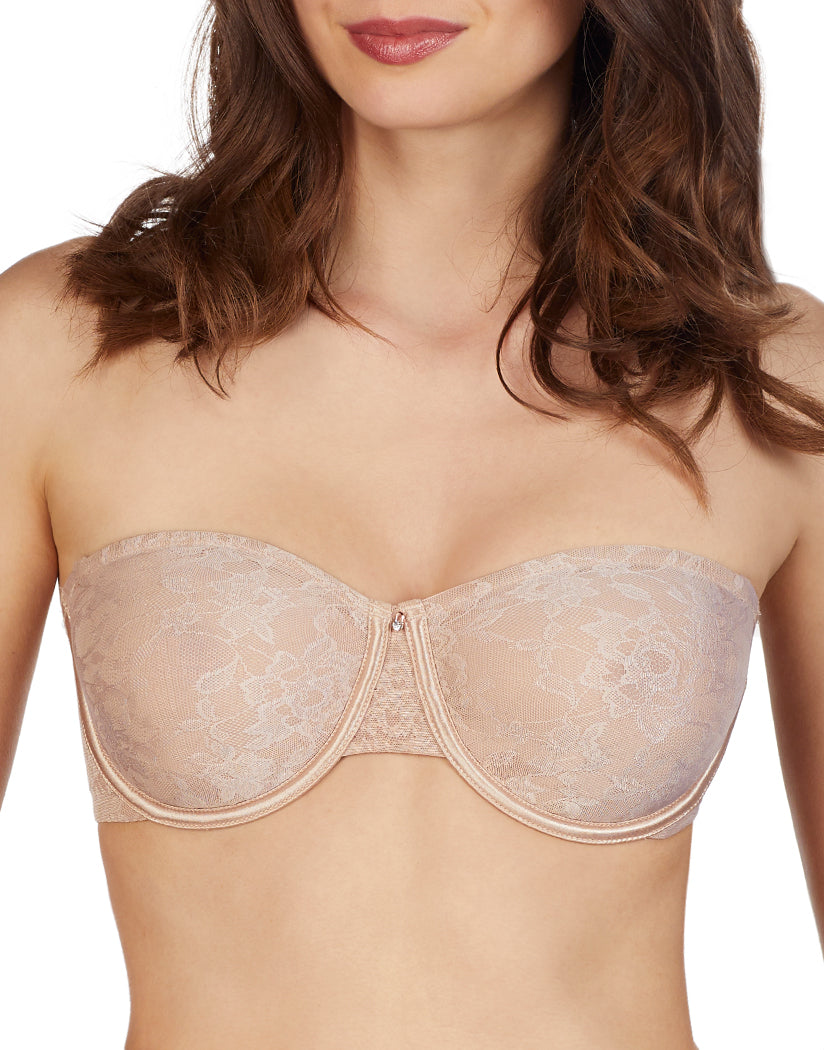 bff9ff05323 Natural Front Le Mystere Lace Perfection Unlined Strapless Bra 3315