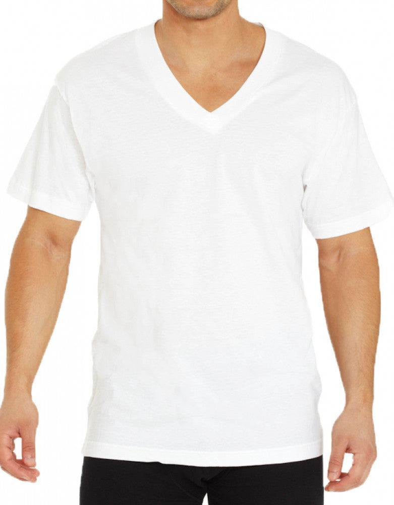 White Front Munsingwear Men's Multipack V-Neck 3 Pack T-Shirts MW52