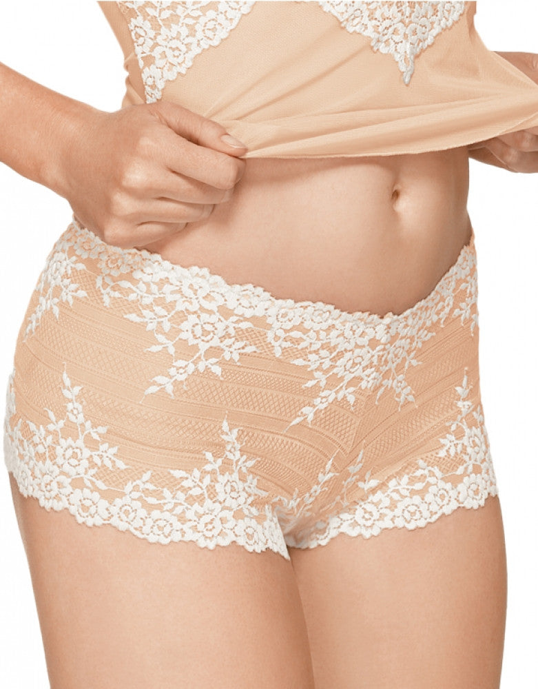 Naturally Nude Front Wacoal Embrace Lace Boyshort