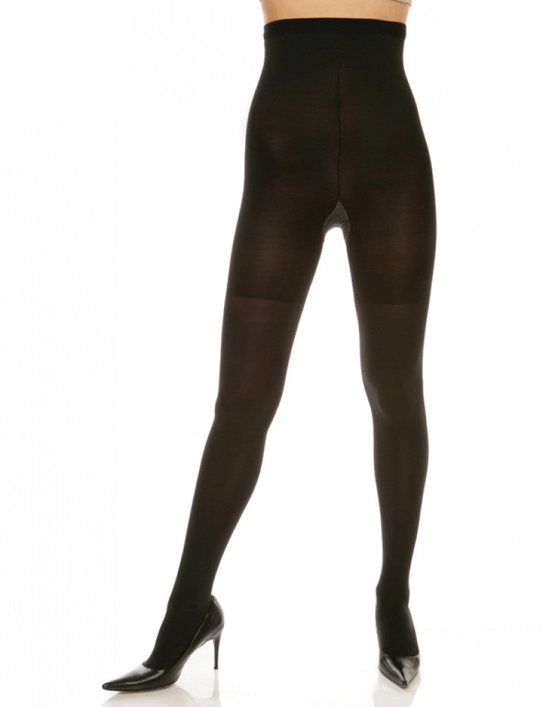 Black Front Spanx High-Waisted Body-Shaping Tight-End Tights