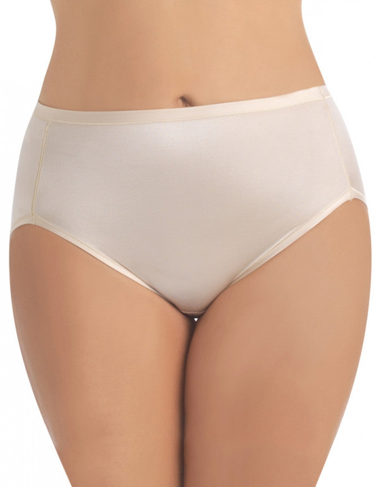 Damask Neutral Front Vanity Fair Body Caress Hi-Cut Brief