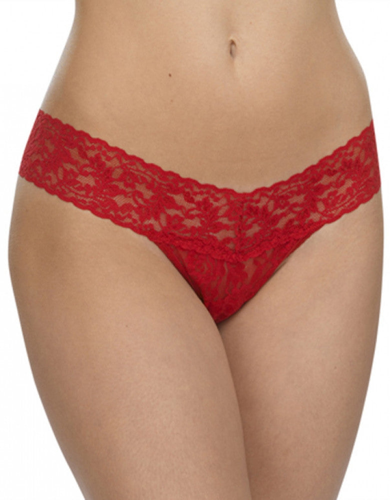 Red Front Hanky Panky Stretch Signature Lace Low Rise Thong