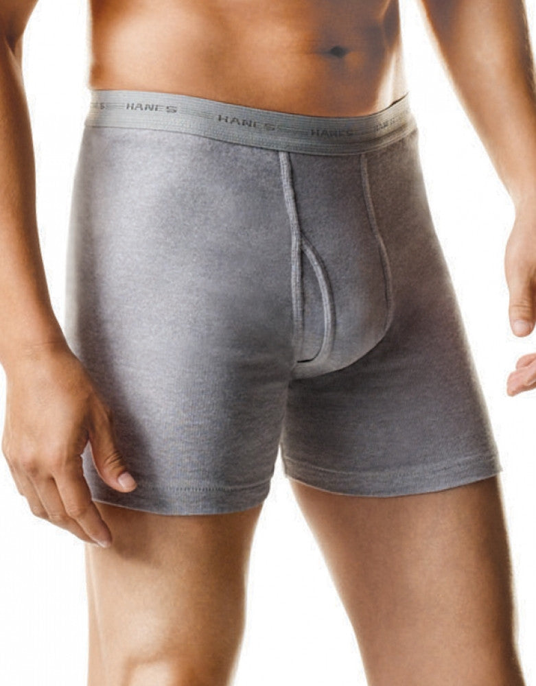 Grey/Black Front Hanes 2 Pack Red Label Boxer Briefs
