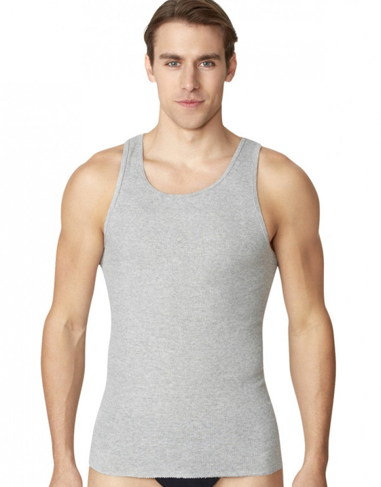 805aed4905ff Black Grey Front Fruit of the Loom 4-Pack Tank Tops
