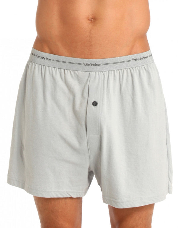 Fruit Of The Loom 3 Pack Assorted Cotton Knit Boxer Shorts