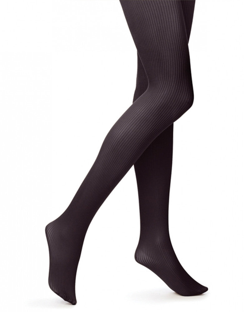 Black Front HUE Classic Rib Tight with Control Top