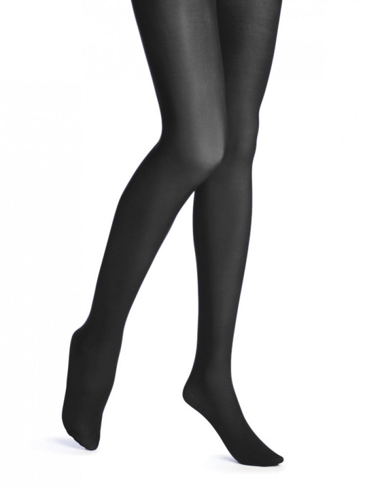 Black Front HUE Opaque Tight with Control Top