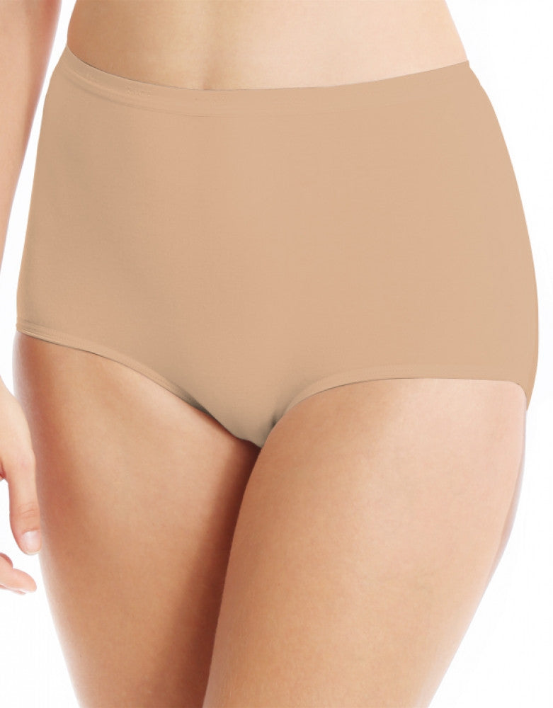 Soft Taupe Front Bali Full-Cut Fit Stretch Brief