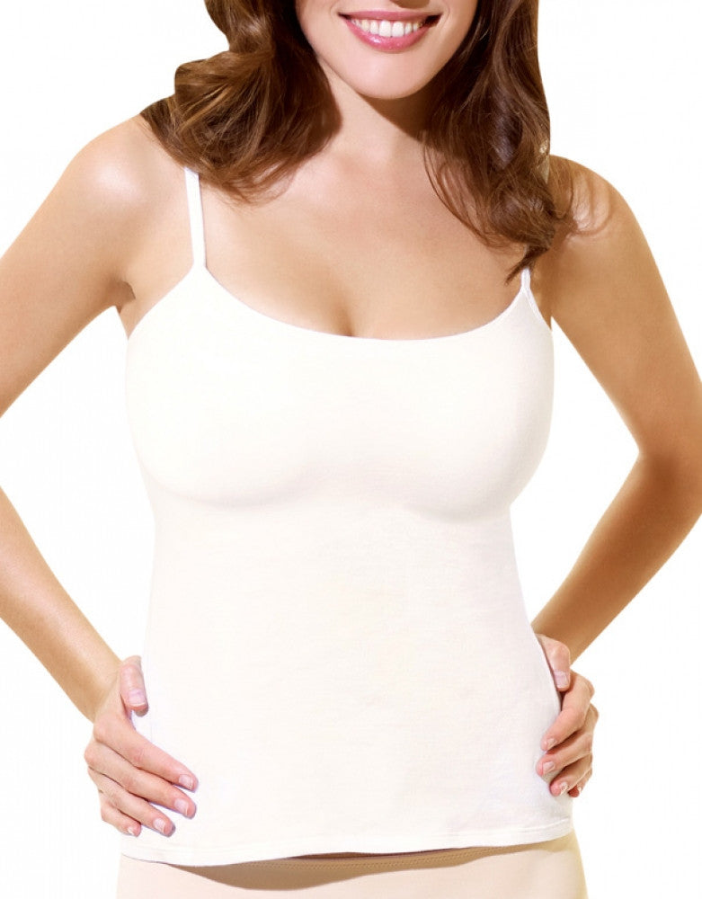 white back panache cotton camisole with built in bra