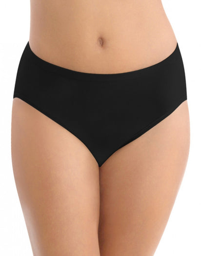 Midnight Black Front Vanity Fair Seamless Tailored Hi-Cut Brief