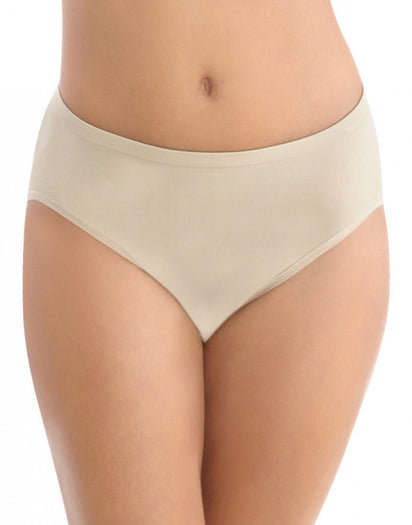 Damask Neutral Front Vanity Fair Seamless Tailored Hi-Cut Brief