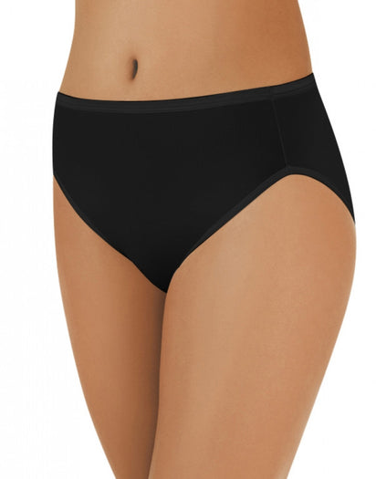 Midnight Black Front Vanity Fair Illumination Hi-Cut Panty