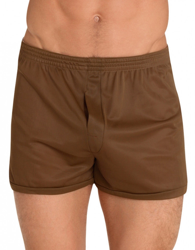 Brown Front Players Tricot Nylon Boxer Short NBX1