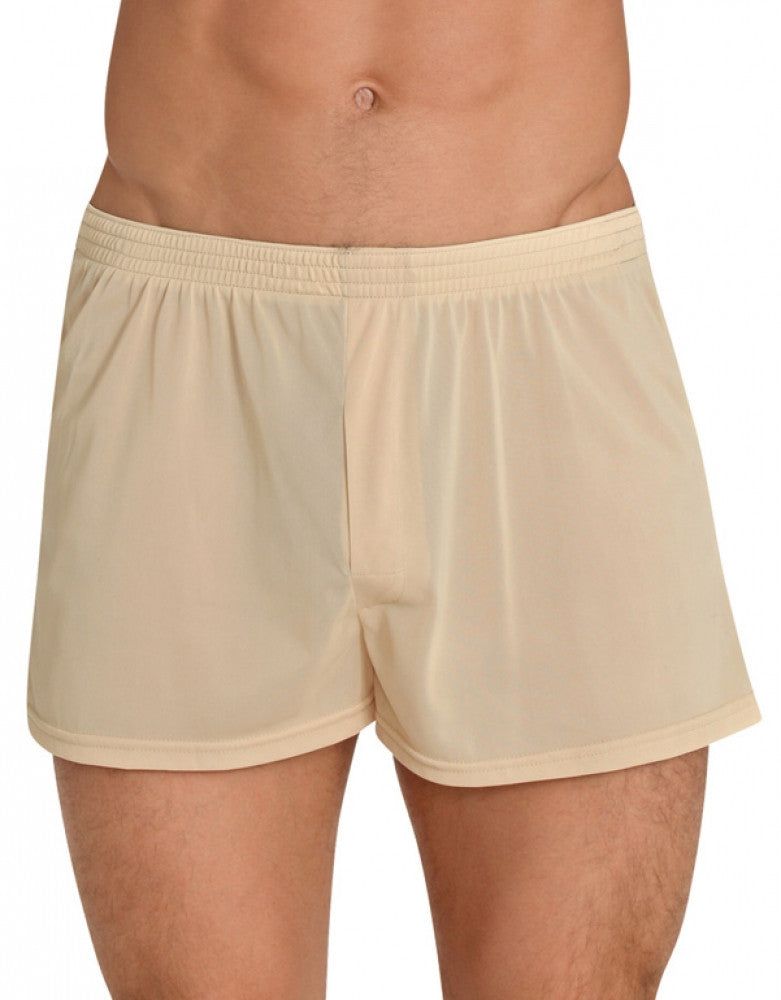 Tan Front Players Tricot Nylon Boxer Short