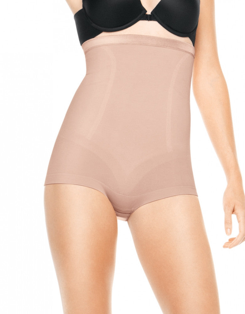 Rose Gold Front Spanx Slimmer and Shine High Waisted Body Tunic