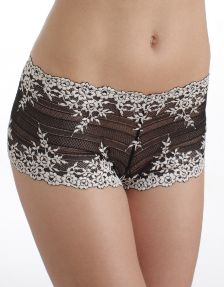 Black Front Wacoal Embrace Lace Boyshort