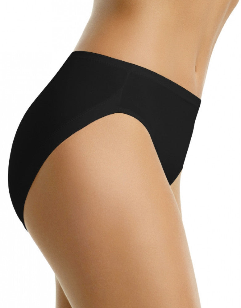 Black Back Warner's No Wedgies. No Worries. Hi Cut Brief