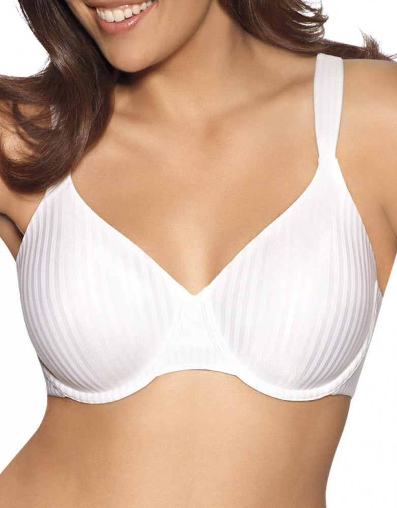 White Stripe Front Playtex Secrets Perfectly Smooth Underwire Bra 4747