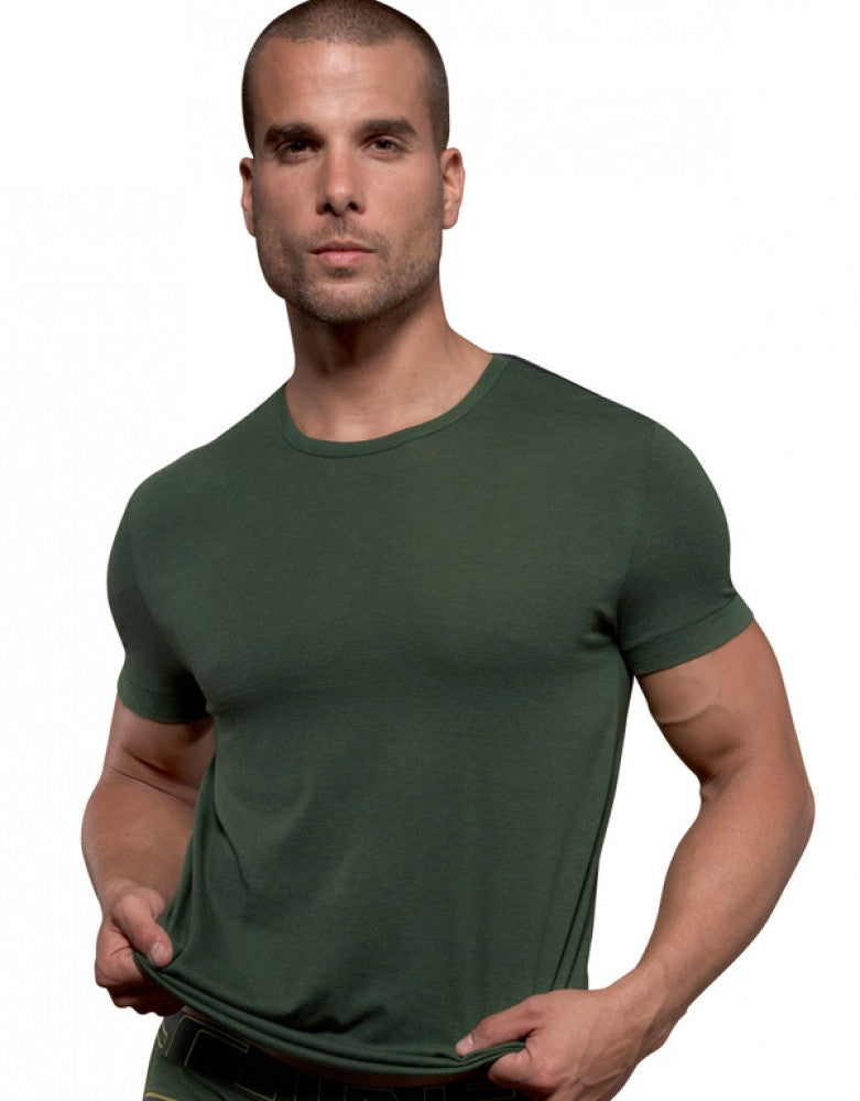 Dark Emerald Front C-IN2 Zen Crew Neck T-Shirt