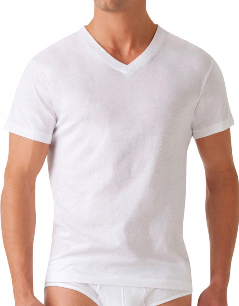 White Front 2xist 2xist Men's 3-Pack Essential V-Neck T-Shirts 020331