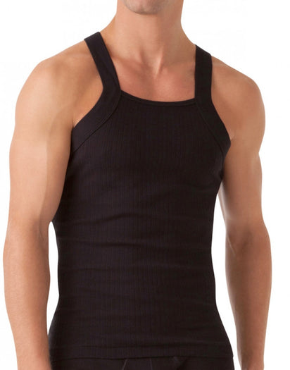 Black Front 2xist 2-Pack Essential Range Square Cut Tank Tops