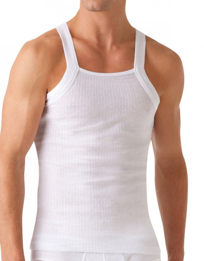 White Front 2xist 2-Pack Essential Range Square Cut Tank Tops