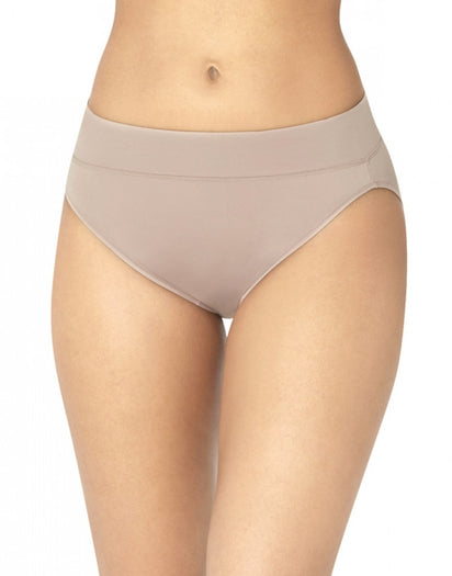 Mocha Front Warner's No Pinching No Problems All Day Fit High Cut Brief