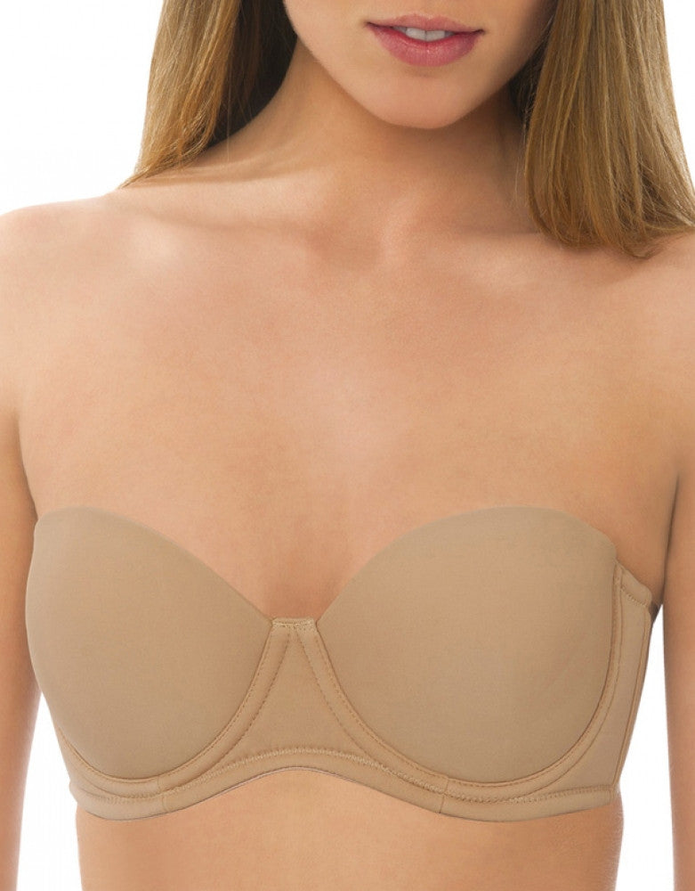 Mocha Front QT Intimates 5-Way Convertible Strapless Bra