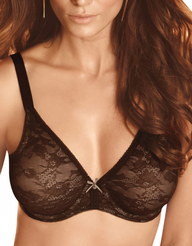 Coffee Bean Front Wacoal Lace Finesse Bra
