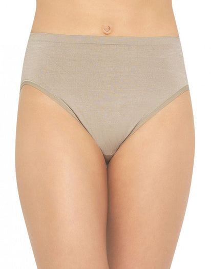 Toasted Coconut Front Vanity Fair Seamless Tailored Hi-Cut Brief