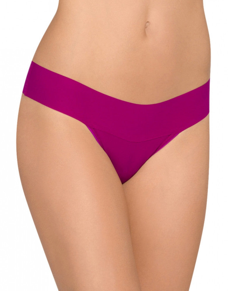 Hot Fuchsia Front Hanky Panky Bare Eve Natural Rise Thong 6J1661