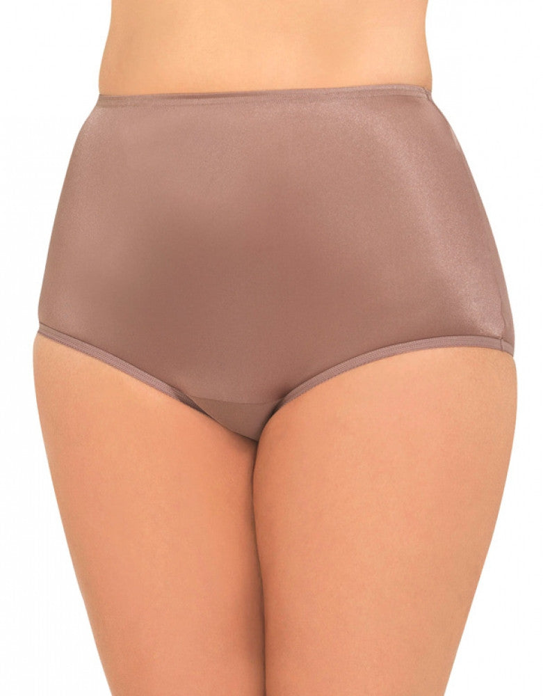 Walnut Front Vanity Fair Perfectly Yours Ravissant Premium Tailored Nylon Brief - 15712