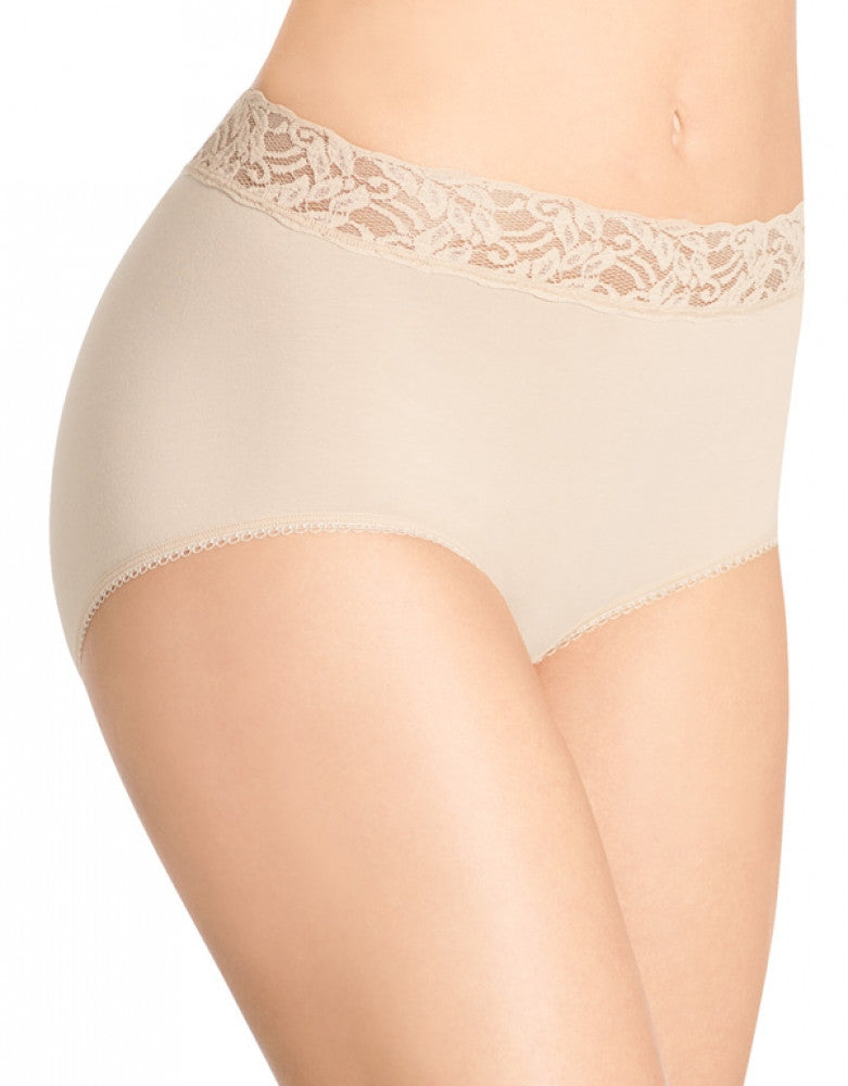 Naturally Nude Front Wacoal Cotton Suede Brief