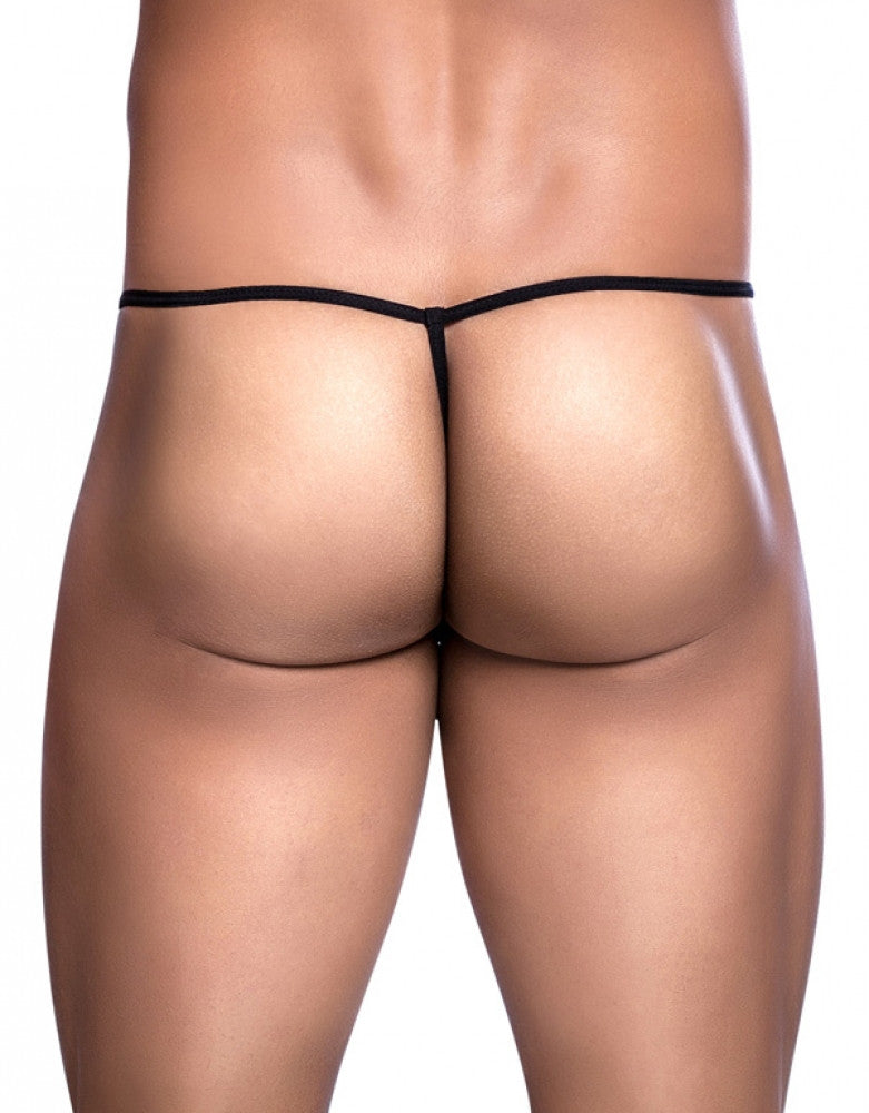 Black Back Malebasics Tulle G-String