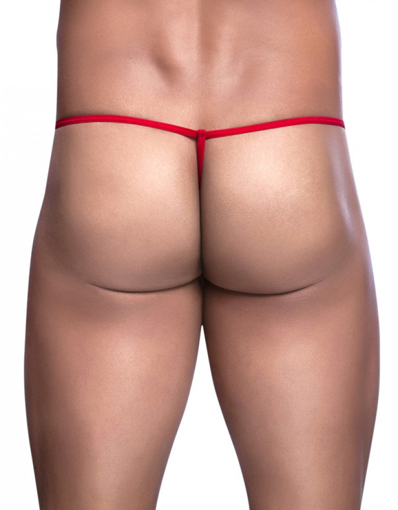 Red Back Malebasics Tulle G-String