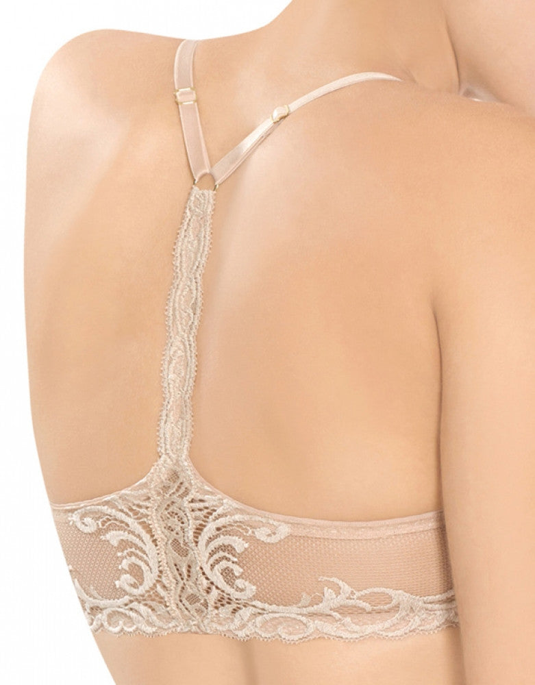 Cafe Back Natori Feathers T-Back Front Close Bra