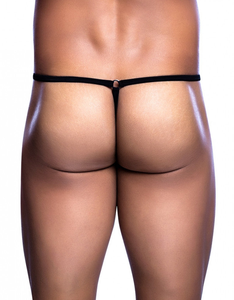 Black Back MOB Tear Drop G-String MBL24