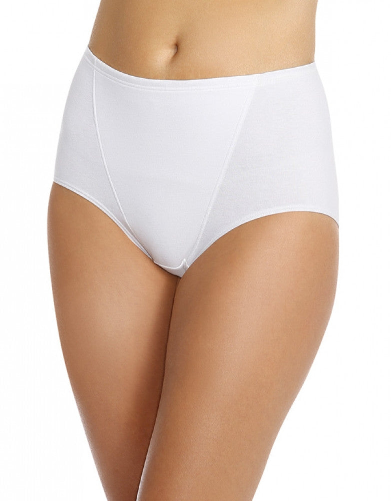 White Front Bali One Smooth U Tummy Toning Cotton Brief 2-Pack