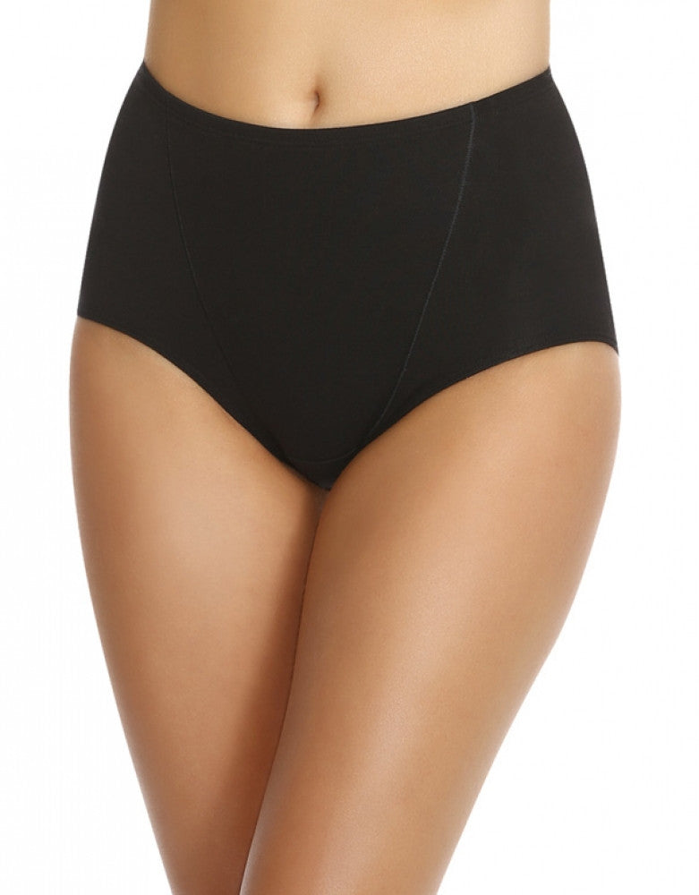 Black/Nude Front Bali One Smooth U Tummy Toning Cotton Brief 2-Pack