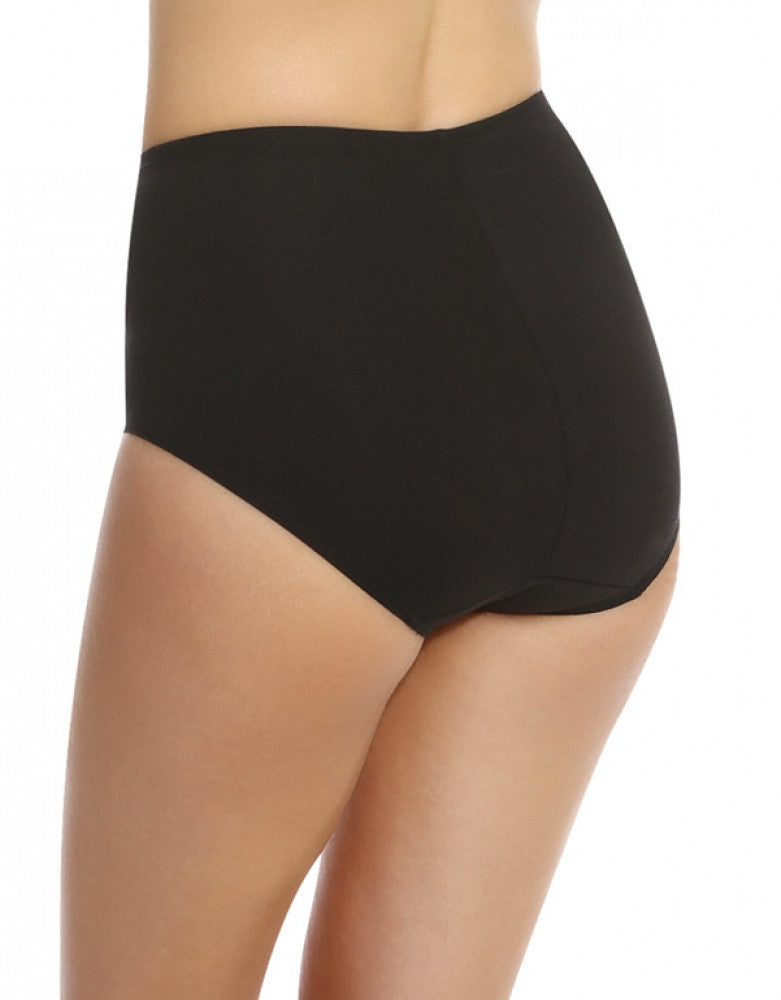 Black/Nude Back Bali One Smooth U Tummy Toning Cotton Brief 2-Pack