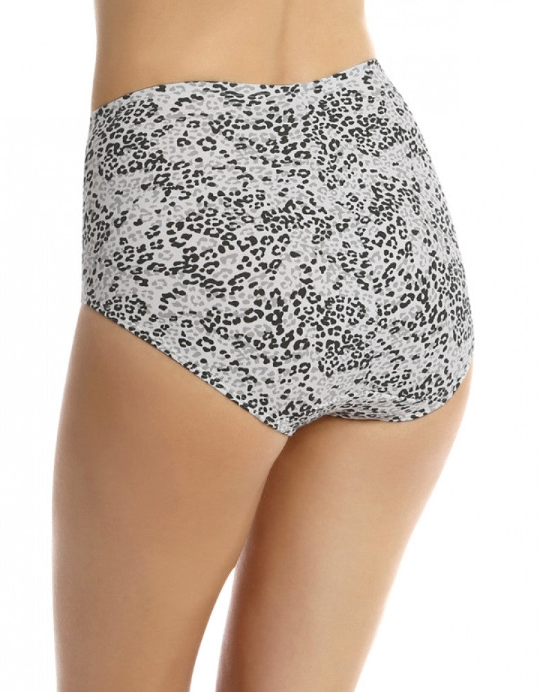 Jet/Grey Leopard Back Bali One Smooth U Tummy Toning Cotton Brief 2-Pack