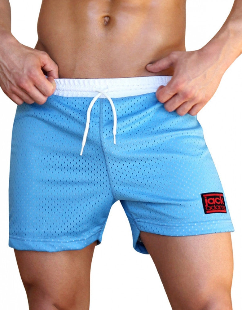 Blue/White Other Jack Adams Air Mesh Gym Short